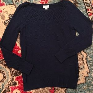 LOFT Navy Blue Sweater